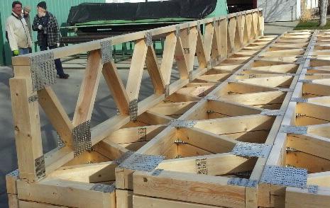 Contact alpha truss for Web floor truss